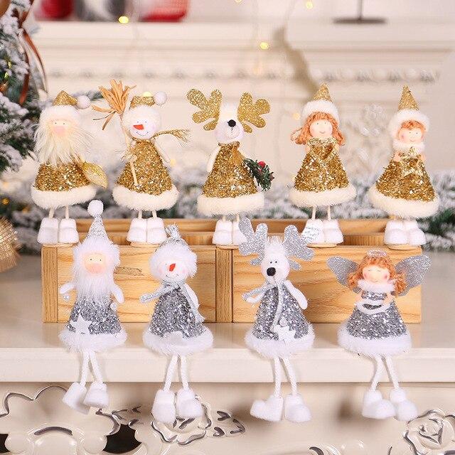 2020 New Year Latest Christmas Angel Dolls Cute Xmas Tree Ornament Noel Deco Christmas Decoration for Home Navidad 2019 Kid Gift 6