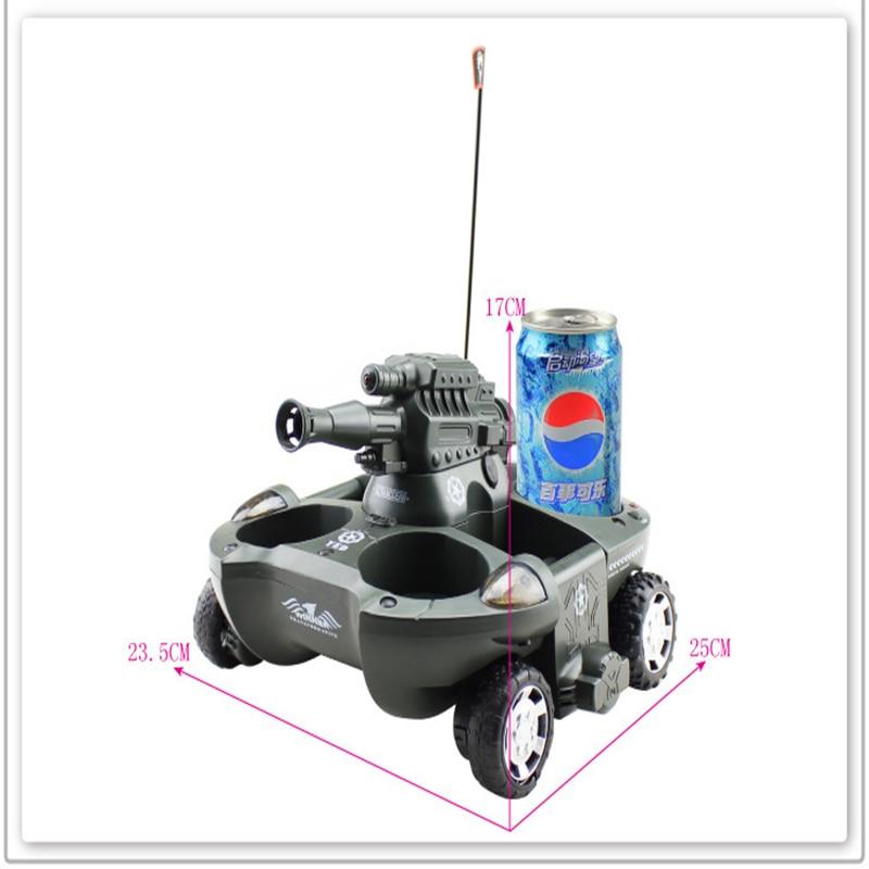 Interruptor de modo tierra y agua del tanque de control remoto con el regalo del niño del juguete del tanque anfibio del disparo al agua - 5