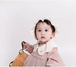 Image 3 - Детское боди, новинка 2020, весенняя одежда для маленьких девочек, детское Сетчатое боди с длинным рукавом и вышивкой на воротнике из чистого хлопка