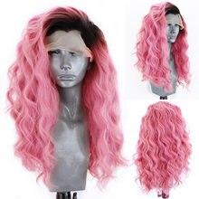 Длинные волнистые парики charisma розовый парик из синтетического