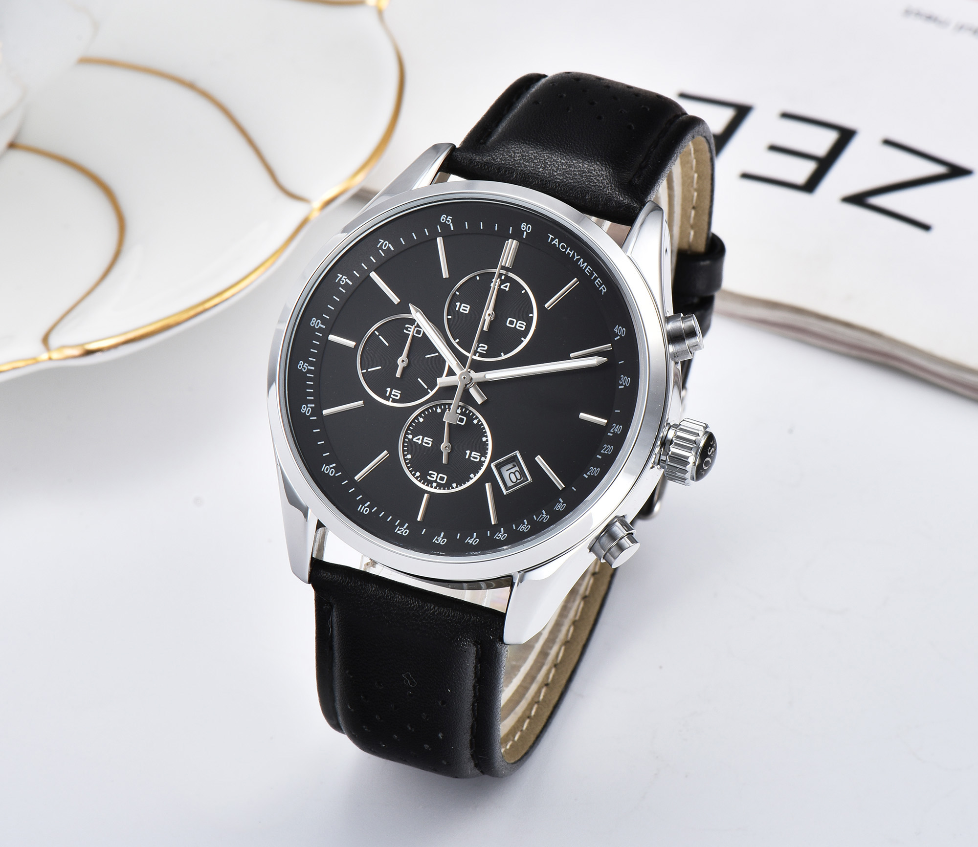 Top Brand Fossil Men's Watch AAA Chronograph Quartz Watches Luxury Men Leather Strap Wrist Watch Clock relojes para hombre 2020