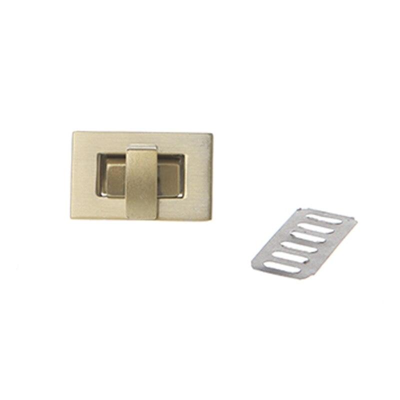 Metal Rectangle Shape Clasp Turn Lock Twist Lock DIY Handbag Bag Purse Hardware M5TE