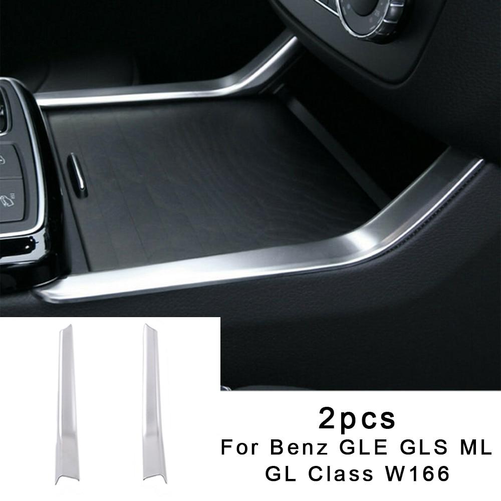 2 pièces de voiture support de verre deau garniture de couverture Chrome argent pour Benz GLE GLS ML GL classe W166 13-19 Auto support de verre deau garniture de couverture