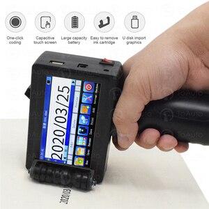 14 lingue Mini Stampante per Etichette A Getto D'inchiostro Macchina da Stampa 600DPI Handheld Portatile Schermo Capacitivo Intelligente USB QR Code