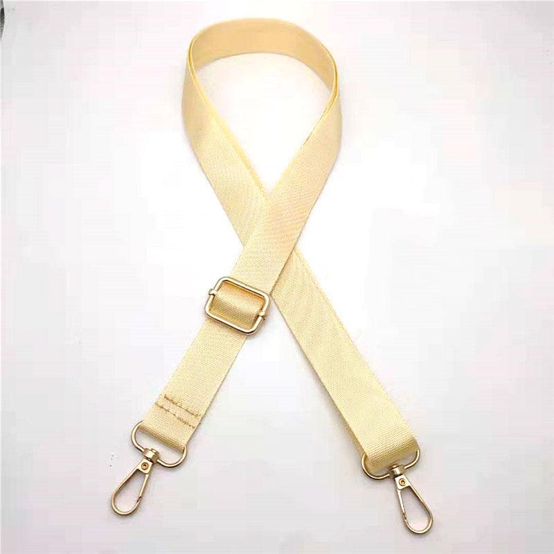Women Nylon Shoulder Bag Strap Metal Button Handbag Strap High Quality Bag Straps Messenger Belt Strap for Bag Accessories