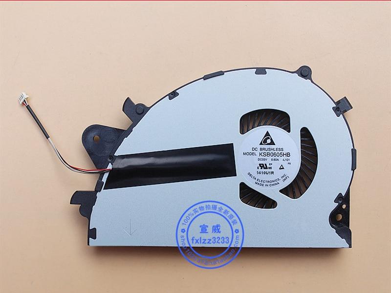 New CPU Cooler Fan For Sony Vaio SVS15 SVS1511 SVS1511S3C SVS1511S1C SVS1512 KSB0605HB -L101 5V 0.50A Radiator