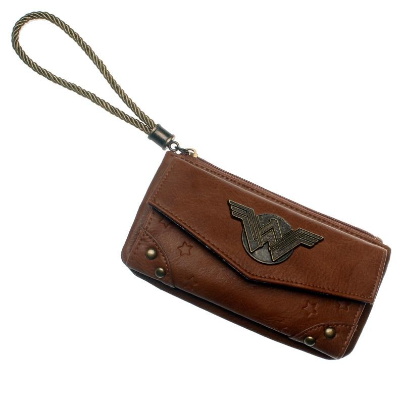 Wonder Woman Wallet Female Coins Purse Card Holder Dft5516