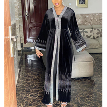 MD Hijab Dress Robe Kaftan Abaya Muslim Kimono Velvet Dubai-Turkish Moroccan Women Cardigan