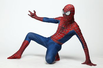 Wysokiej jakości Spider-Man Spiderman kostium przebranie dorosłych i kostium halloweenowy dla dzieci czerwony czarny elastan 3D ubrania cosplay tanie i dobre opinie Zestawy Kombinezony i pajacyki Film i TELEWIZJA Chłopcy Other Poliester Kostiumy Adult and Kids Spiderman Spider man costume