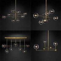현대 유리 버블 샹들리에 램프 부엌 다이닝 룸 쇼핑몰 바 이탈리아어 샹들리에 블랙 로즈 골드 샹들리에 펜 던 트