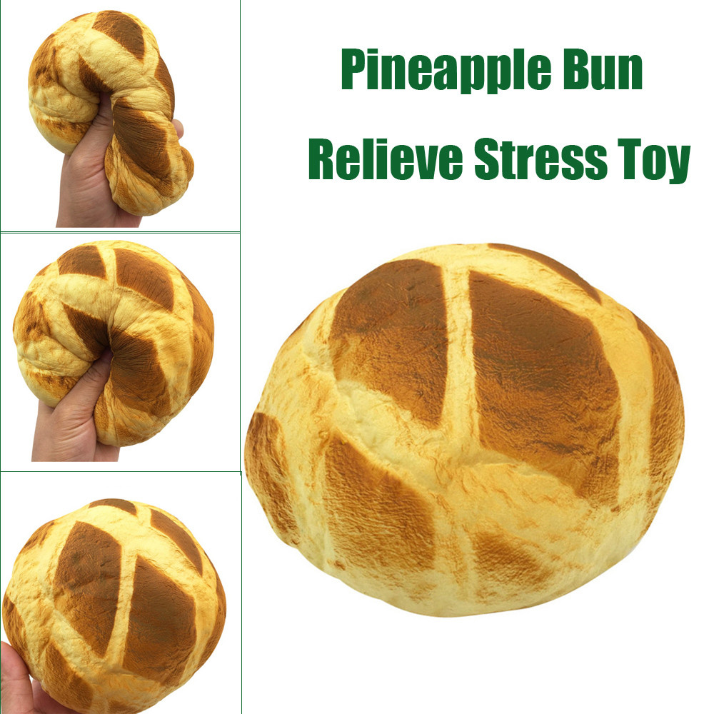 Decoration Decoration Simulation Toy Simulation Big Pineapple Bun Super Slow Rising Scented Relieve Stress Toy  L0110