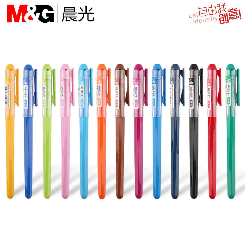 1Pcs Color Ink Non-erasable Pen Stationery Pen Multi-function Gel Pen 0.38mm Tip Writing Fluent Strong Quality School stationery
