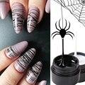 6 мл Spider Line Гель Лак Для ногтей Черный Белый Рисунок Проволока Гель Паутина Лак Для Ногтей УФ-гель Творческий Рисунок Маникюр LE1615