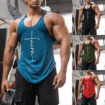 Gym Tank Top Men Fitness Clothing Mens Bodybuilding Tank Tops Summer Gym Clothing for Male Sleeveless Vest Shirts Plus Size