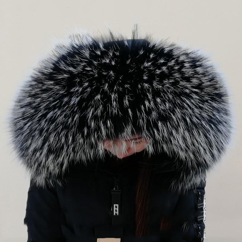 Зимняя женская Кожаная шапка с воротником из меха енота, мягкий цветной меховой шарф L5 - Цвет: Color 1