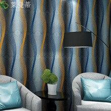 Foreign trade 3D stereo deep embossed wavy wallpaper bedroom living room TV wall hotel room KTV private room wallpaper