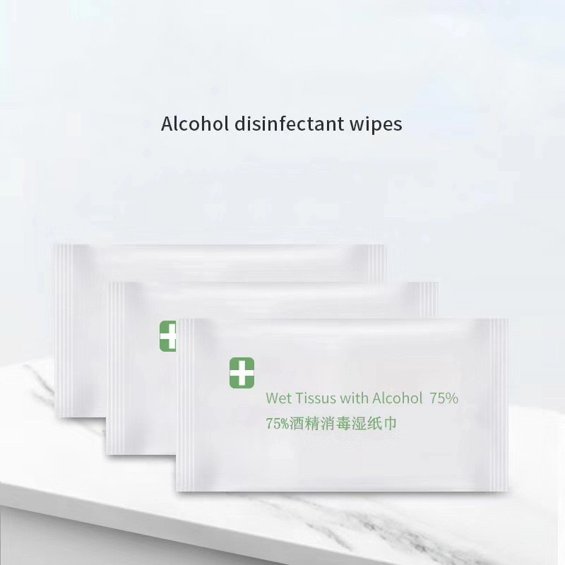 100Pcs Alcohol Pads Disposable Disinfection Cotton Wipes Emergency Cleaning Wipe Outdoor Indoor Sanitizing Wipes, Alcohol Formul