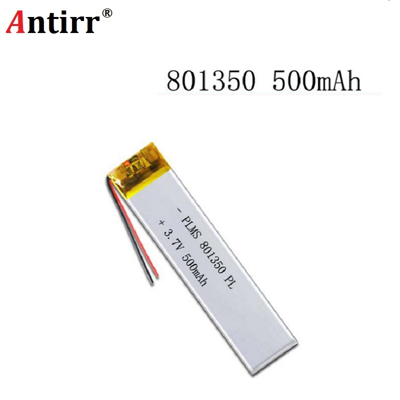 3.7 V 801350 081350 500mah With Protection Board Used For Bluetooth MP3 MP4 Lithium Battery