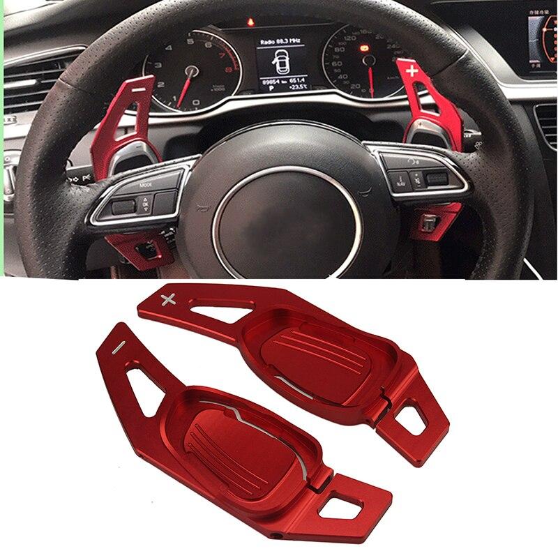 Volante Paddle Volante per Auto Shift Paddle Shifter per A5 S5 S6 SQ5 RS3 RS6 RS7 Red Volante Paddle Shifter