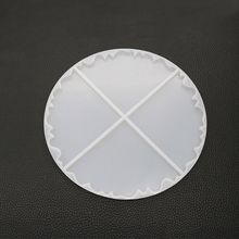Irregular Wave Round Cup Tray Coaster Cup Mat ilicone Mold Resin For Resin Epoxy Resin Mold Jewelry Tools Making