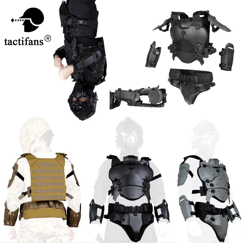戦術的な軽量軍鎧ギアセット屋外多機能調節可能な狩猟肘パッドウエストシールエアガンペイントボール狩猟ベスト   -