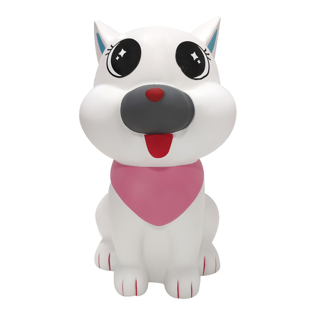 Exquisite Cartoon Dog White Slow Rising Stress Reliever Toy Vent Decompression Toy Baby Educational Toy #C