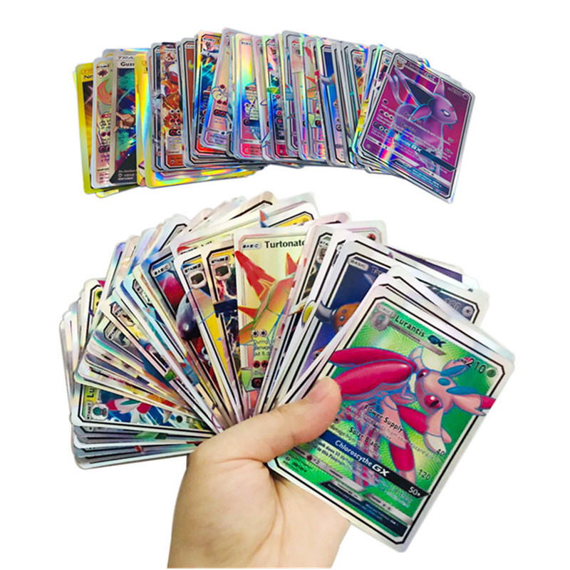 Best Selling mix pokemon Cards Collection GX mega EX Cards For Funs Children English Language Toy