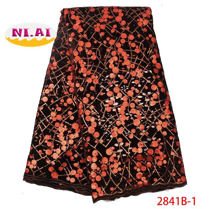 Ev ve Bahçe'ten Dantel'de Organze dantel kumaş dizileri ile gül kırmızı afrika dantel kumaş 2019 yüksek kalite tül dantel Trim parti elbise NA2841B 5'da  Grup 2