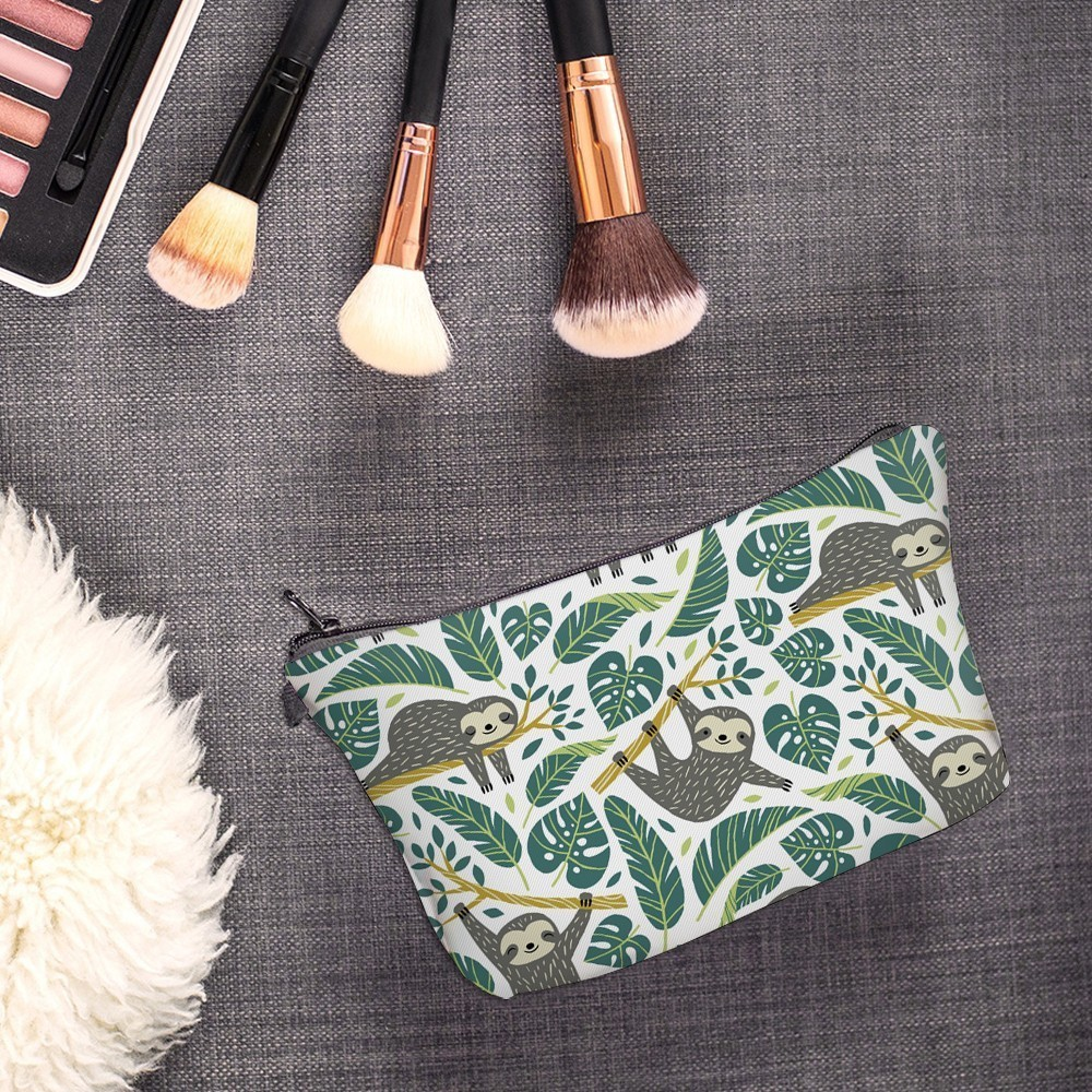 H50e2d96ebbf74f42836a10eb1a362d38D - Sloth Cosmetic Bag Waterproof Printing Swanky Turtle Leaf Toilet Bag Custom Style for Travel