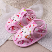Baby Shoes For Girls Boys Anti-slip Soft Animal Prints Cute Casual Shoes Toddler Sandals Comfortable Cotton Baby Shoes Summer(China)