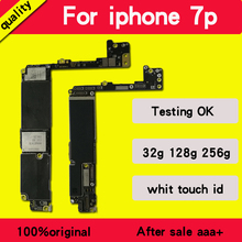 Original unlocked for iphone 7 plus Motherboard With Touch ID/ Without Touch ID,for iphone 7P Mainboard With Chips Logic board international language original motherboard for samsung galaxy note 2 n7105 lte motherboard chips logic clean imei
