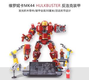 Image 3 - Người Sắt Hulkbuster Lepining 76105 Marvel Iron Man Avengers Siêu Anh Hùng Mẫu Bộ Khối Xây Dựng Bé Trai Giáng Sinh Quà Tặng Đồ Chơi Trẻ Em