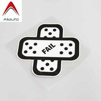 Pegatina de coche divertida Aliauto, etiqueta para cubrir rasguños con estilo de Auto de tirita a prueba de fallos para motocicleta Vw Nissan Suzuki,11cm * 11cm