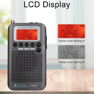 Image 2 - Retekess TR105 المحمولة الهواء الفرقة FM/AM/SW/CB/الهواء/VHF الرقمية ضبط راديو مع الموقت تشغيل/إيقاف وظيفة على مدار الساعة