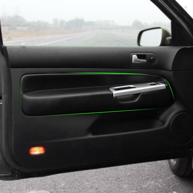 Only For 3 Doors Car Microfiber Leather Door Armrest Panel Cover Sticker Trim For VW Golf 4 MK4 Jetta 1998 - 2005