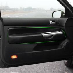 Apenas para 3 portas carro microfibra couro porta braço painel capa adesivo guarnição para vw golf 4 mk4 jetta 1998 - 2005