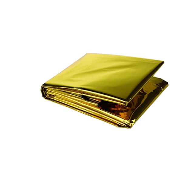 Gold Emergency Solar Survival Blanket Safety Insulating Mylar Thermal ALUK