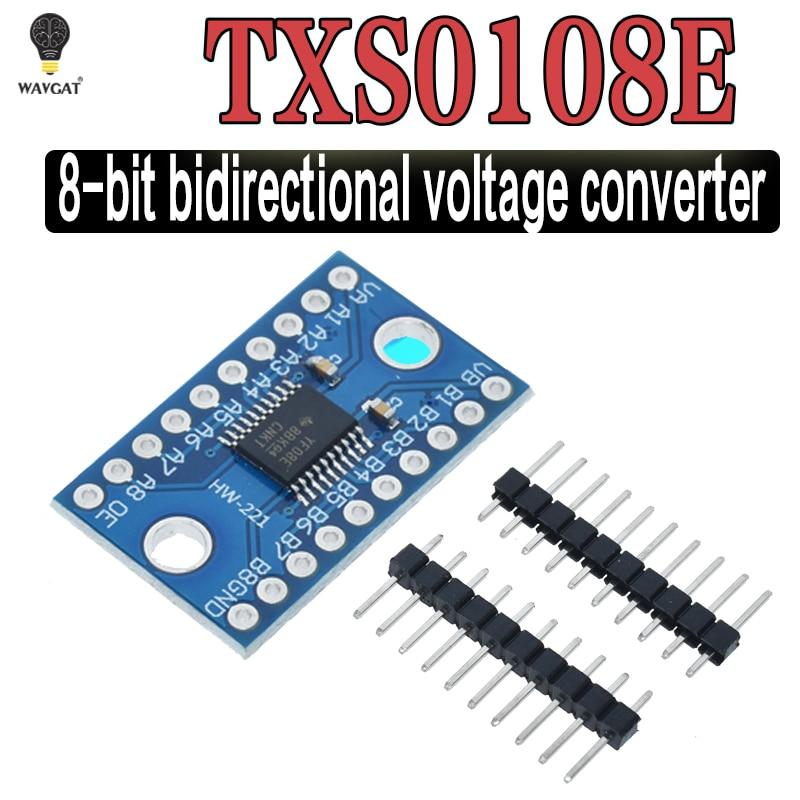 Двухнаправленный модуль преобразователя логического уровня TXS0108E, 3,3 В, 5 В, 8 каналов, модуль взаимного преобразования TXS0108E
