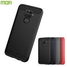 MOFi For Huawei Nova 5i Pro Case Luxury Carbon Fiber Anti-drop TPU Soft Cover Cases Back