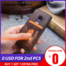 Case For Galaxy S9 Case Distressed Genuine Leather Cover Hard Protection Business Capas For Samsung S9 Shockproof Back Cover