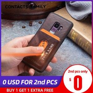 Image 1 - Case Voor Galaxy S9 Case Verontruste Lederen Cover Hard Bescherming Business Capas Voor Samsung S9 Shockproof Back Cover