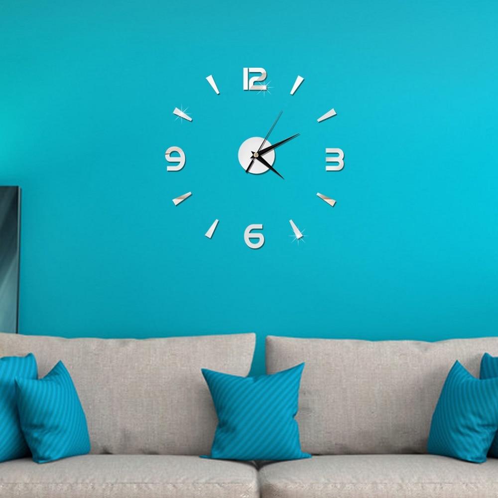 2019 New 3D Wall Clock Mirror Wall Stickers Fashion Living Room Quartz Watch DIY Home Decoration Clocks Sticker reloj de pared 5