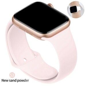 Ремешок силиконовый для Apple Watch 44 мм 40 мм 38 мм 42 мм, спортивный резиновый браслет для наручных часов, аксессуары для Iwatch Series 3 4 5 6 se|Ремешки для часов|   | АлиЭкспресс