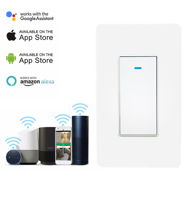 Tuya Smart life app Control WiFi Light US Button Switch Support Alexa Google Home for Voice Control