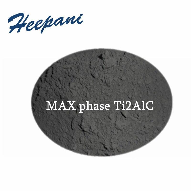 Free Shipping MAX Phase Ceramic Material 200mesh - 500mesh With High Purity Ti2AlC Titanium Aluminum Carbide Mxene Powder