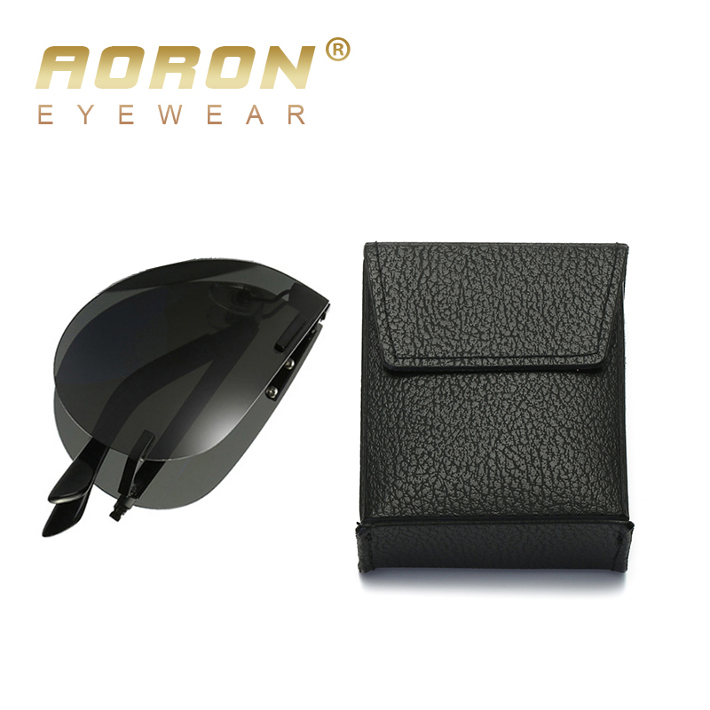 AORON Men's Folding Polarized Sunglasses Folded Sun Glasses Foldable Portable Designer Retro Goggles