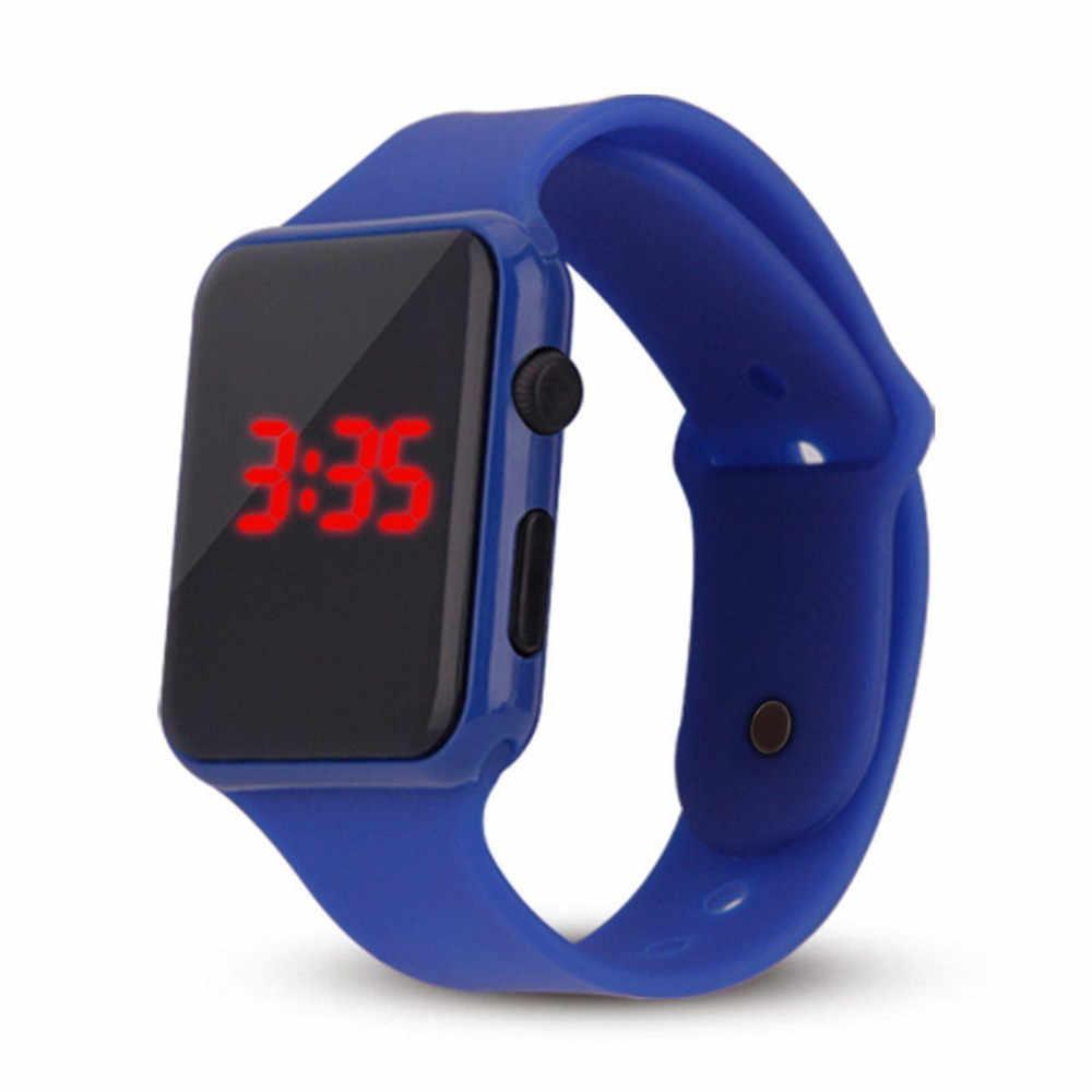 יוניסקס דיגיטלי LED ספורט שעון סיליקון להקת יד שעונים גברים ילד אופנה ספורט שעון אלקטרוני דיגיטלי שעונים מתנות גברים