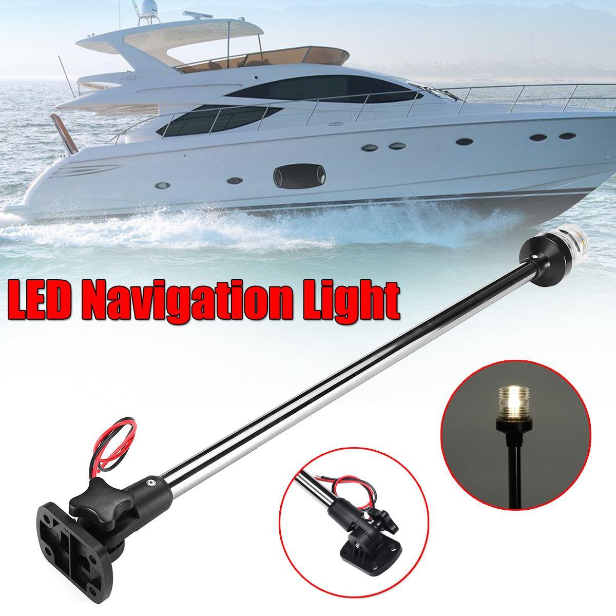 """12-24V 9.5 ''/16''/25 """"rabattable bateau marin LED feux de Navigation bateau marin Yacht sévère ancre lumière LED lampe de voile"""