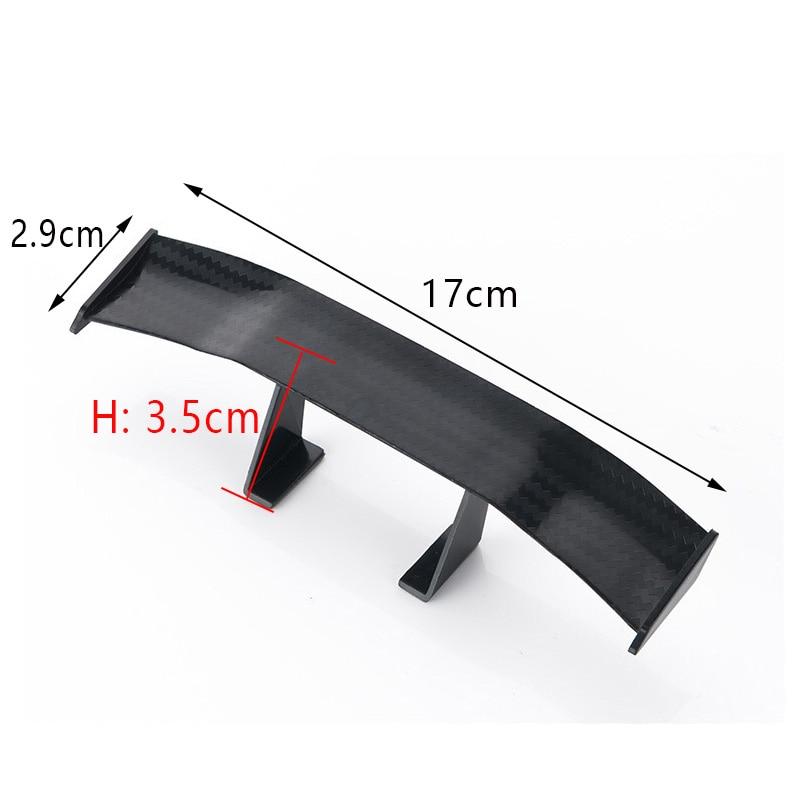 17cm Model Carbon Fiber twill Look GT Tiny Mini Rear Wing Spoiler Decoration New