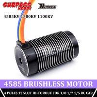 SURPASS HOBBY-cohete impermeable, Motor sin escobillas, 4585, 1580KV, 1100KV, 4 polos, 5mm, Hi-Motor de torsión, para coche RC 1/8, 1/7, 1/5